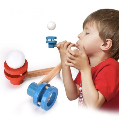 Floating Ball Toy Wooden Blowing Pipe