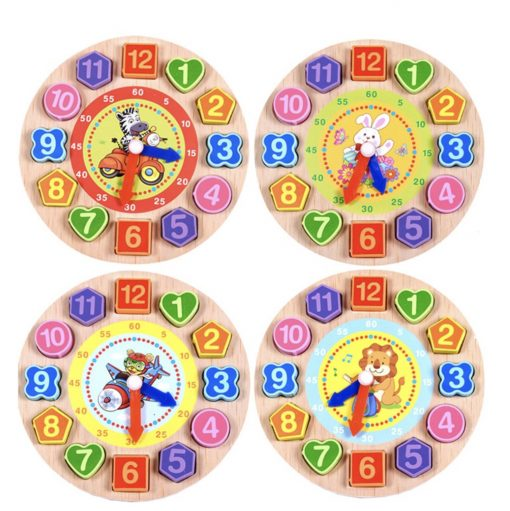 Wooden Clock Toy Puzzle