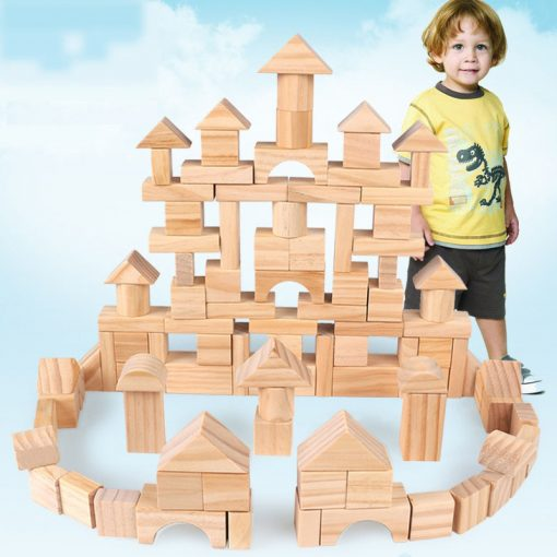 Plain Wooden Blocks Set