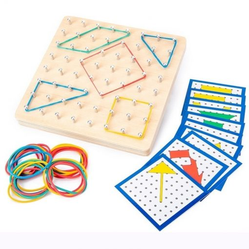Montessori Wooden Rubber Band Board