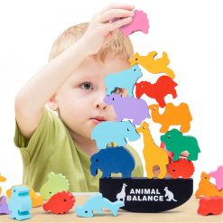 animal balance stacking toy