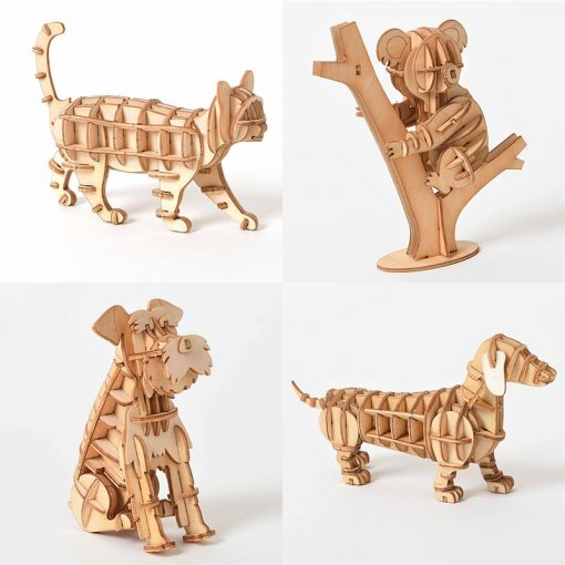 3D Wooden Animals Puzzle